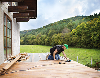 handyman working on a deck in rock hill sc